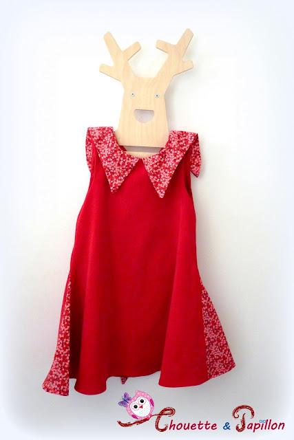 robe sereine, her little world liberty mitsi valeria rouge