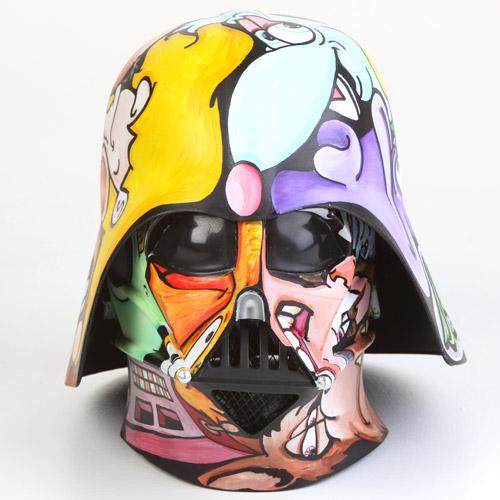 how to make a custom lego darth vader helmet