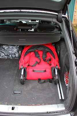 Britax B-Motion 3 in car boot