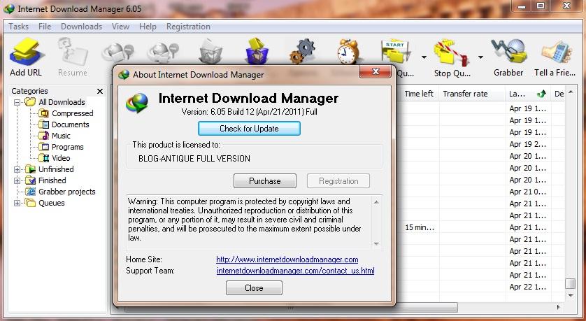 IDM 6 05 Full Crack Keygen Internet Download Manager