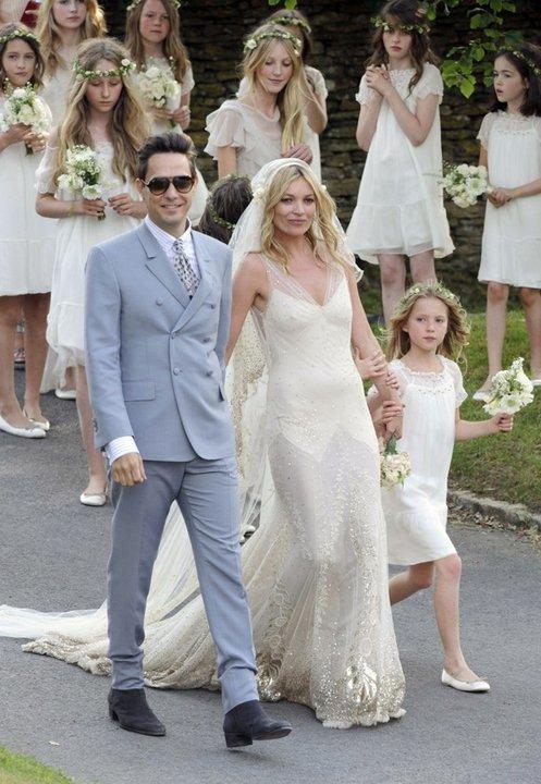 fashion on rock kate moss wedding photos us vogue