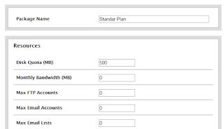 cara membuat paket hosting di WHM