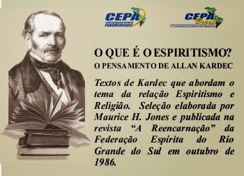 RELIGIÃO E ESPIRITISMO