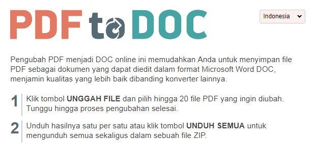Merubah PDF Ke Word