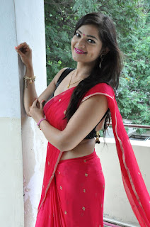 Actress Ashwini  Pictures in Red Saree at Hora Hori Platinum Disc Function  030