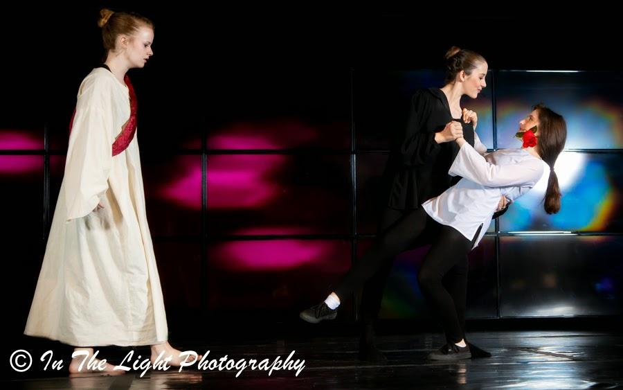 Performance Art Dance: Seduction Captivates Man, God is sad, Experience Arts School, In the Light Photography
