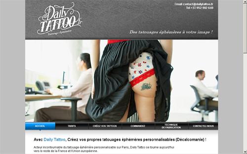 Tatouage temporaire éphémère decalco personnalisé  - Tatouage Ephemere Personnalisable