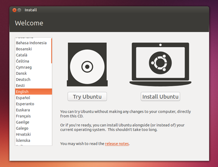 Try Ubuntu without Installing - Booting from DVD