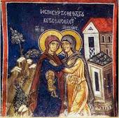 O embrião Jesus no ventre de Maria