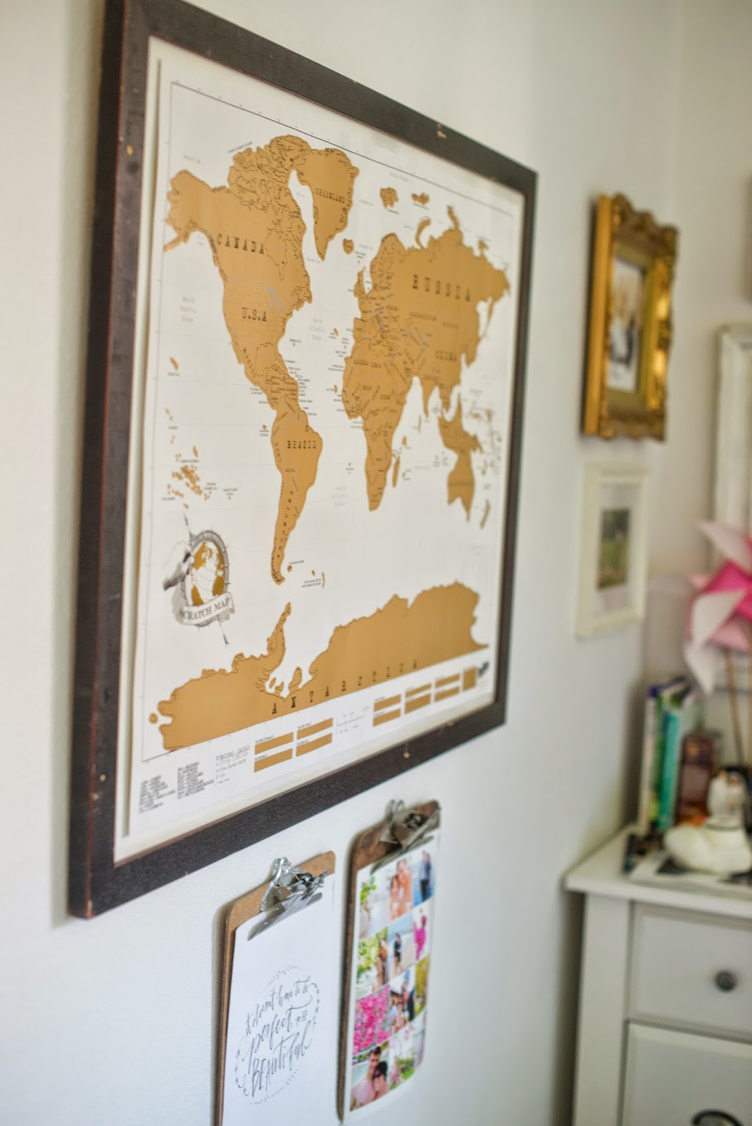 Domestic Fashionista Creating A Unique And Personal Home - Scratch map frame