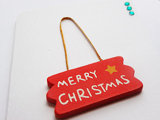 The Merry Christmas Card, wooden