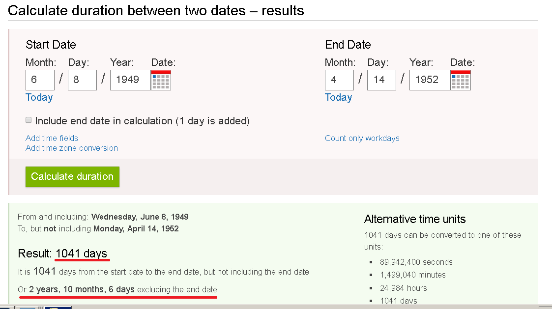 How Long Have Been Dating Calculator