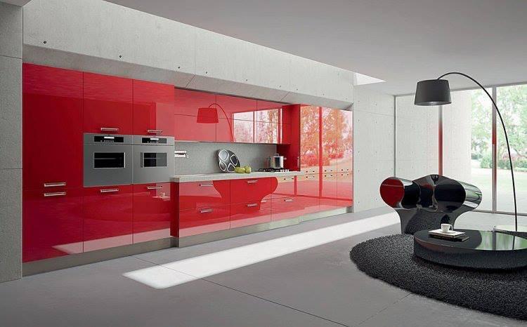 Construindo minha casa clean cozinhas vermelhas lindas - Cocinas super modernas ...