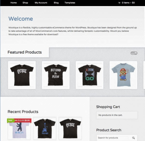 Wootique e commerce wordpress theme