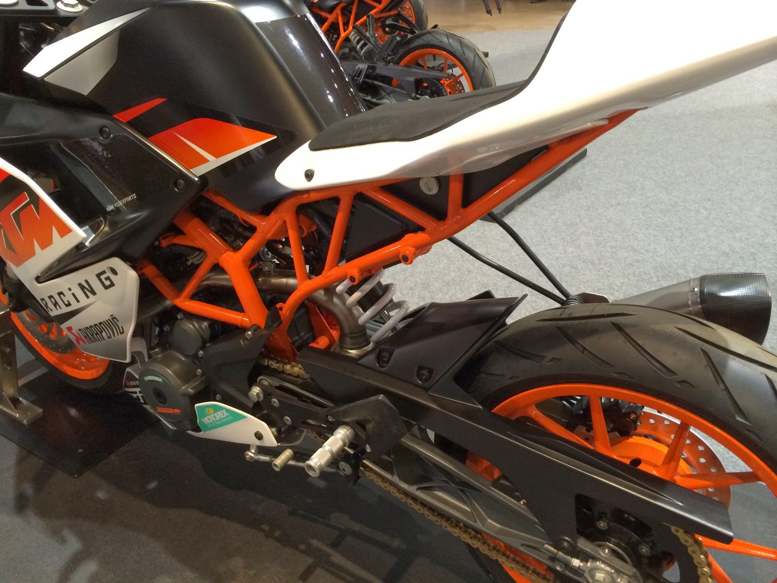 KTM RC 390 2014 rear sub frame