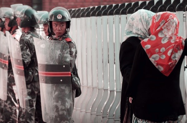 Китайская полиция в Восточном Туркестане