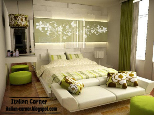 Italian Bedroom Design With Modern Italian Bedroom Furniture Green And White