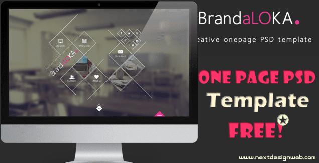 Onepage PSD website Template