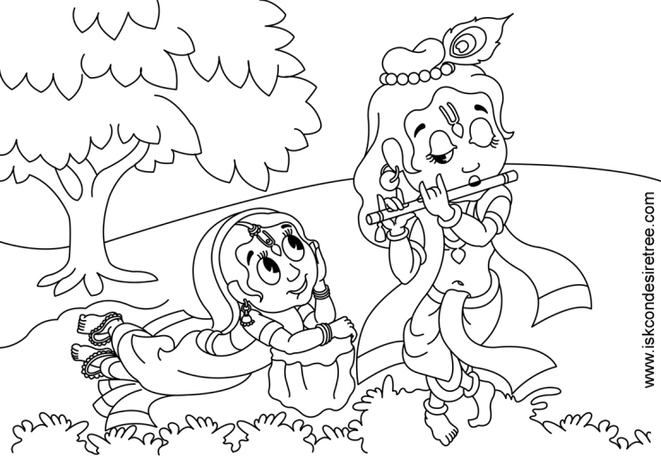 krishna printable coloring pages - Baby Krishna Images Coloring Pages