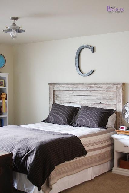 beingbrook teen boy bedroom update light fixture