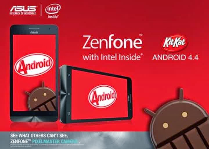 Cara Update Manual Kitkat Asus Zenfone 4 Root