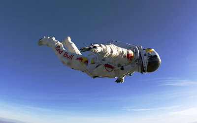 Felix Baumgartner Redbull Skydiving Free Fall HD Desktop Wallpaper