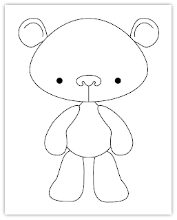bear free hand embroidery pattern