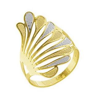 anel asas dourado