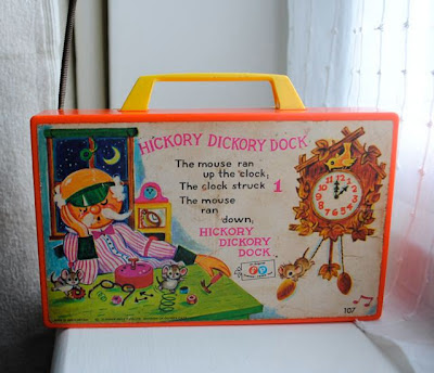 Vintage Fisher Price clock radio reverse