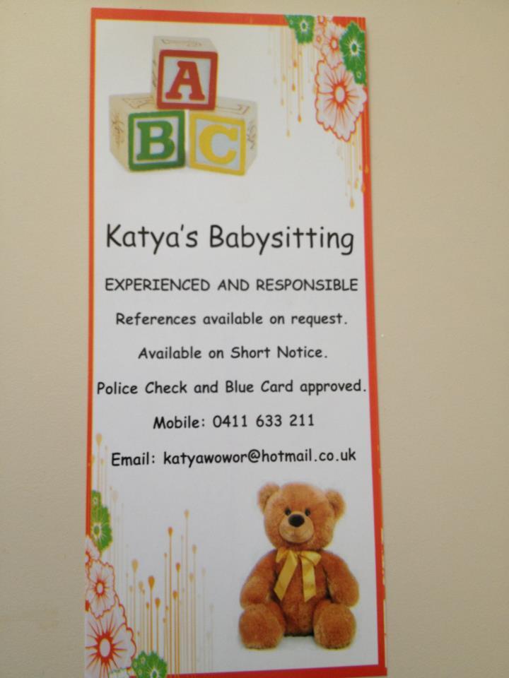 babysitting ads template