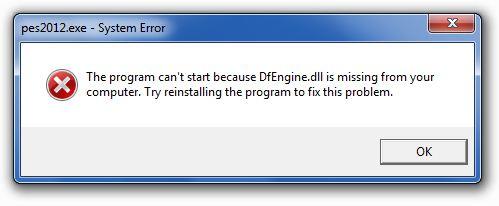 PES 2012: Cara memperbaiki DFEngine.dll Missing