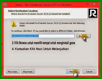 Proses Install Game PES 2015