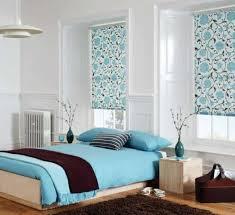 dormitorio marrón y celeste