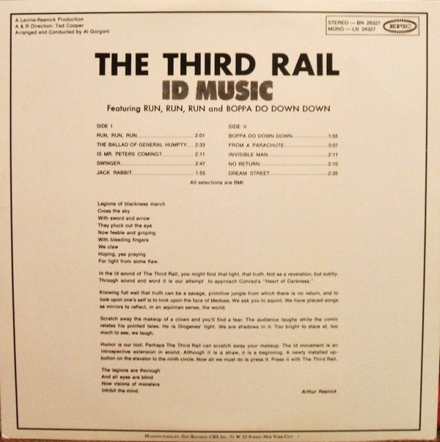 Vinyl Exam Id Music The Third Rail