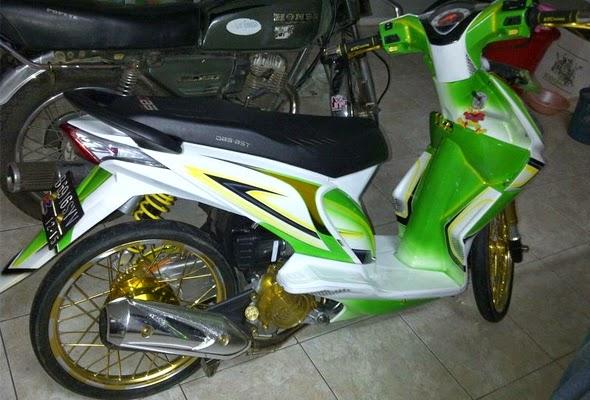 Modifikasi Honda Beat Velg Jari-Jari