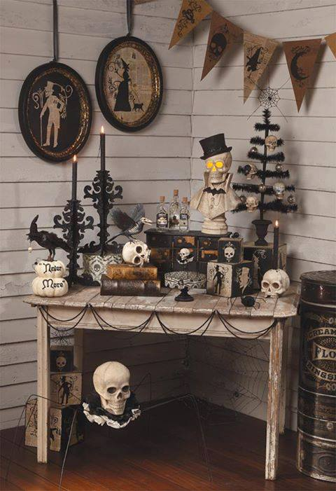 Shelley b decor and more black and white halloween for 59 victorian lighted black lamp post christmas decoration