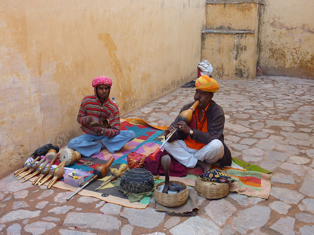 Medical mission to India, snake charmer