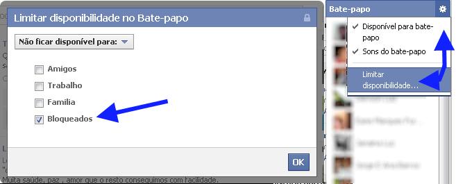 Como bloquear no bate papo facebook