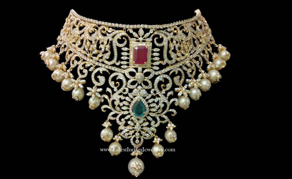 Indian Diamond Bridal Choker