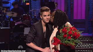 Whoopi Goldberg kiss Justin Bieber SNL Saturday Night Live 2013