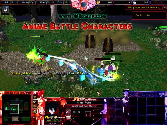 Warcraft 3 Anime Characters : Anime battle character v