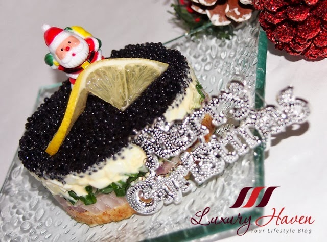 how to make delicious christmas party caviar pie
