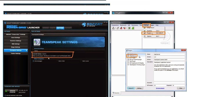 RocCat Power-Grid|TeamSpeak configurações