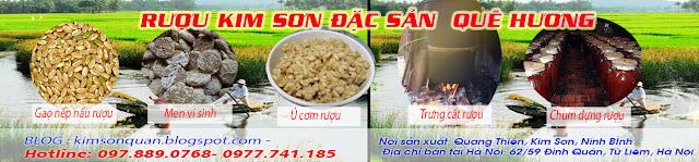 Đặc sản rượu nếp Kim Sơn