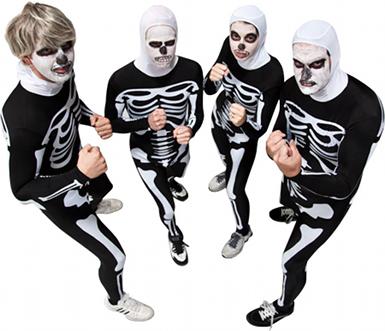 Johnny Karate Kid Skeleton Costume