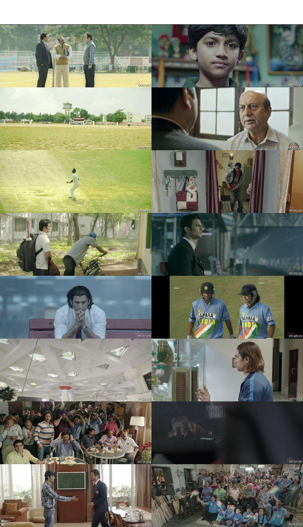 Screen Shot Of M.S. Dhoni The Untold Story 2016 300MB BRRip 480P Full Hindi Movie Watch Online Free Download
