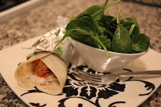 Curried Turkey Burrito