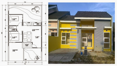 Design a simple house with a low cost ( design houses Indonesia ...