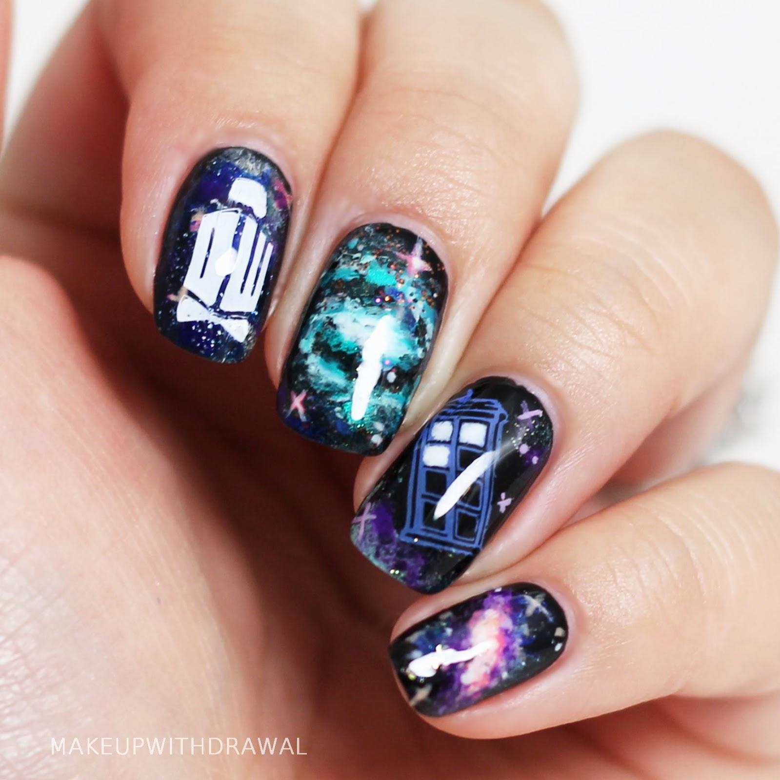 Tardis In Space Nails Makeup Withdrawal