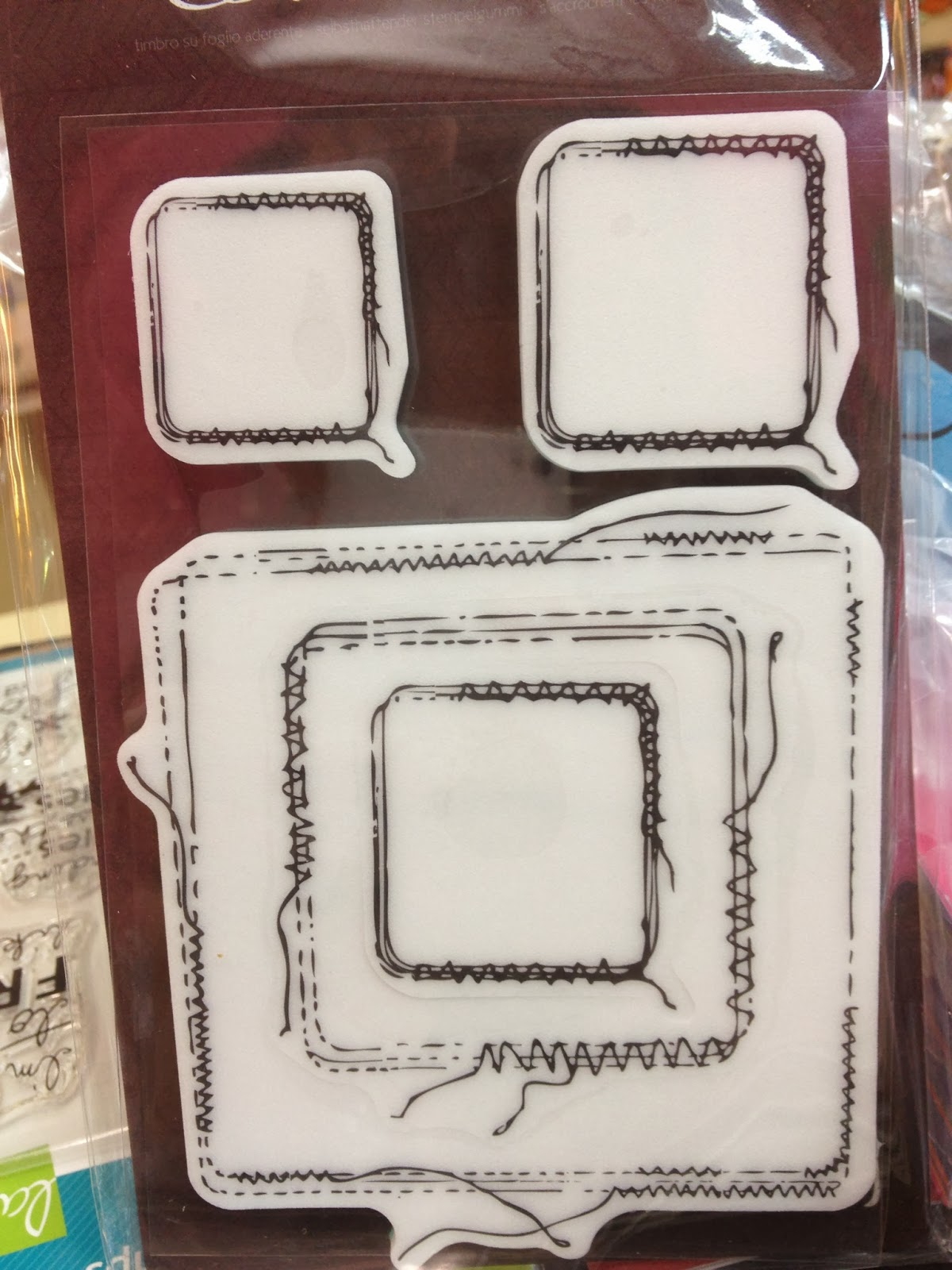 How to scrapbook memories - Prima Marketing Stitches Cling Stamps 4 X6